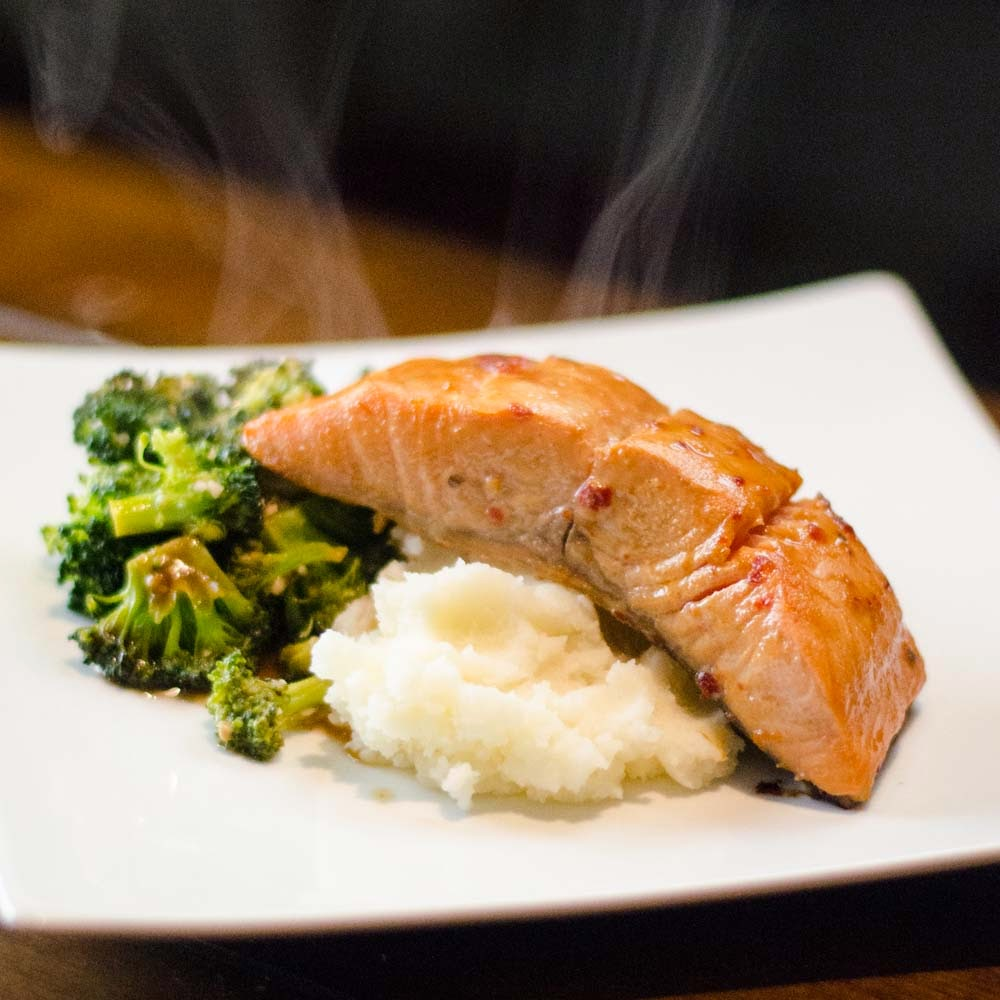 Spicy Asian Salmon with Hoisin Broccoli